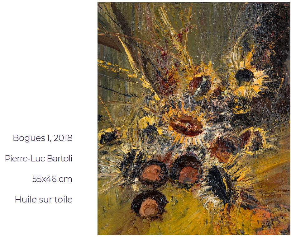 Bogues I, 2018 Pierre-Luc Bartoli 55x46 cm Huile sur toile