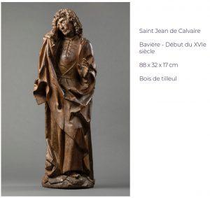 Saint Jean de Calvaire Bavière - Début du XVIe siècle 88 x 32 x 17 cm Bois de tilleul