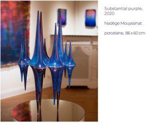 Substantial purple, 2020 Nadège Mouyssinat porcelaine, 86 x 60 cm